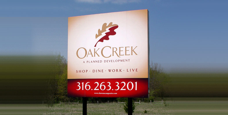 Oak Creek Worksite Sign