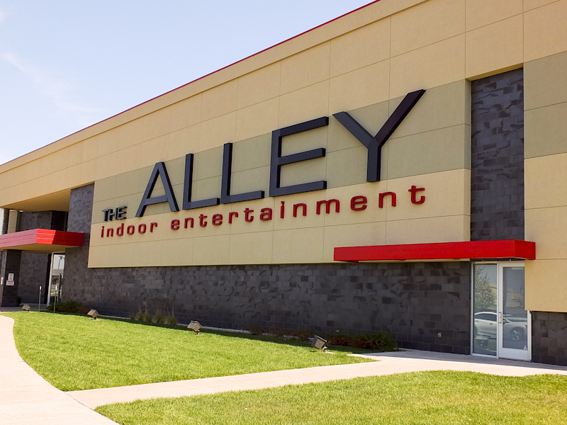 The Alley Channel Letters Sign