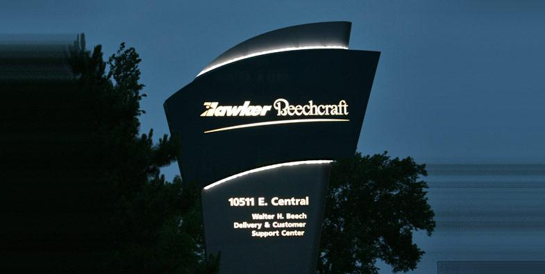 Hawker Beechcraft Pole Sign