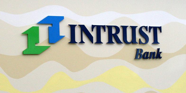 Intrust Bank Interior Sign