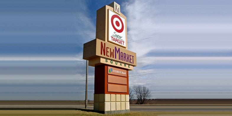 New Market Square Pylon Sign
