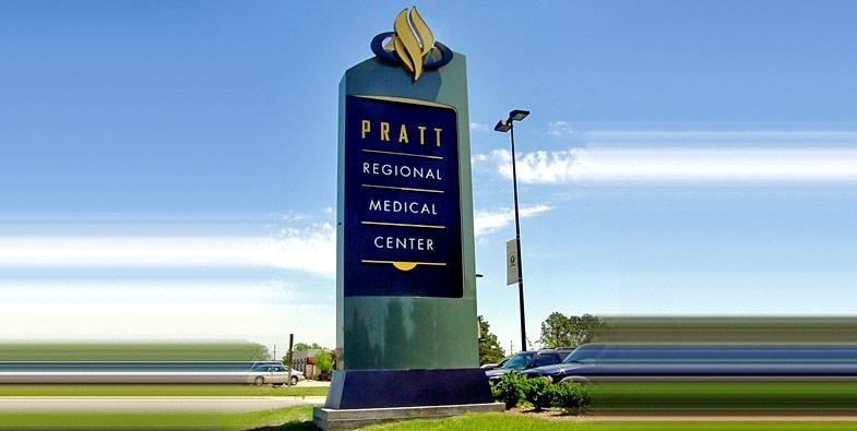 Pratt Pylon Sign by TriMark