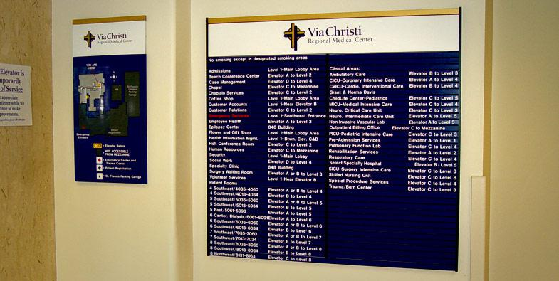 Via Christi Directional Signs