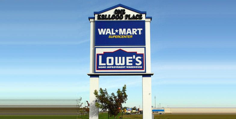 Walmart Pole SIgn